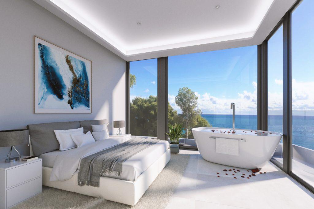 Imagen del dormitorio de la villa