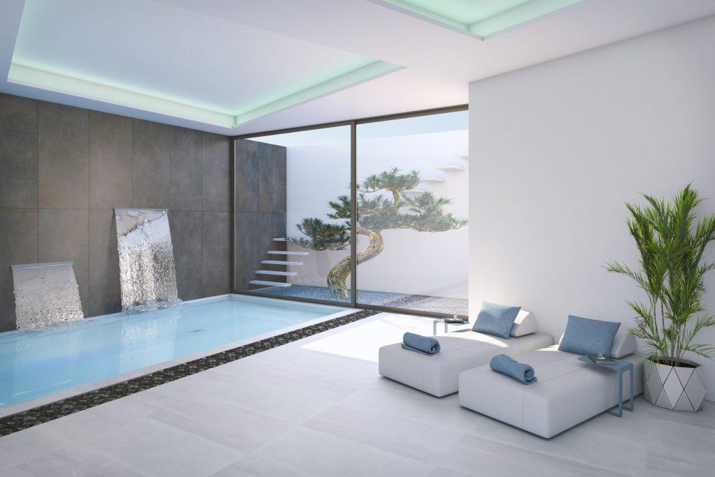 Imagen del spa de la villa